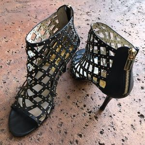 Michael Kors Yvonne Booties Caged Shoes Stilletos